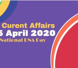 Current Affacairs 25 April 2020